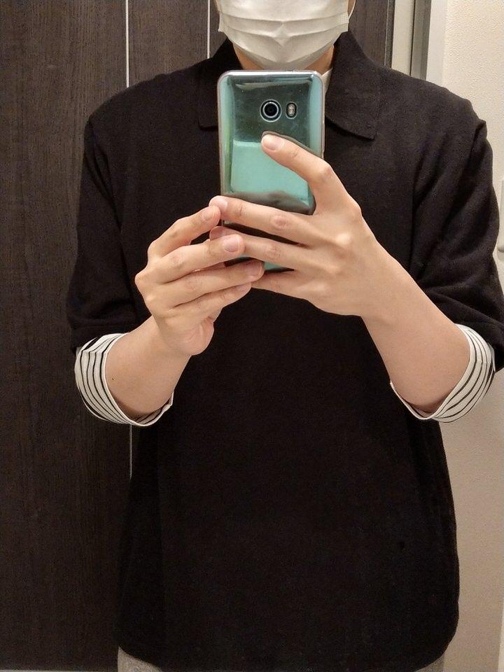 """ユニクロの""""ファインゲージポロシャツ(2021年春夏)""""を購入【着回しOK】着用感"""